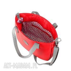torebka-z-paskiem na ramię torebka damska aktówka czerwona