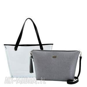 handmade na ramię torebka delise 2w1 1056 szara