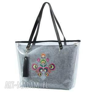 ręcznie wykonane na ramię torebka delise 2w1 2314 folk jasna