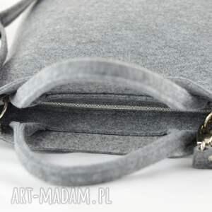 na ramię filcowy torebka do ręki i na długi pasek