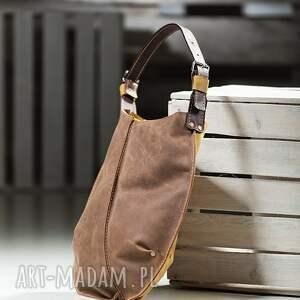 na ramię torba na torebka dwukolorowa skórzana