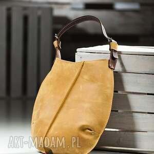 żółte na ramię torba torebki torebka dwukolorowa skórzana