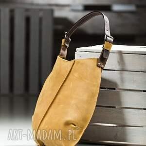 na ramię torba torebki torebka dwukolorowa skórzana