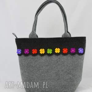 hand made na ramię torebka filcowa - kuferek