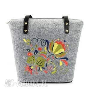 na ramię: torebka filcowa polne kwiaty 354