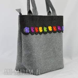 torebka na ramię filcowa - kuferek