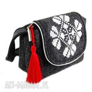 atrakcyjne na ramię torebeczka torebka filcowa dla dziewczynki