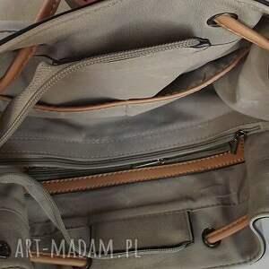 brązowe na ramię torba torebka ściągana