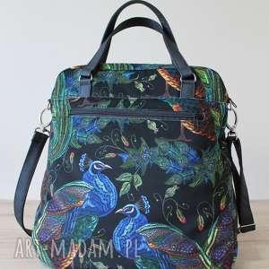 niekonwencjonalne na ramię elegancka torebka listonoszka - pawie