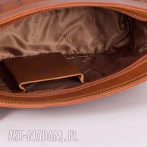 skóra na ramię torebka łuska duża koniak