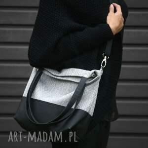 czarne na ramię czarna-torebka torebka miejska sky colors