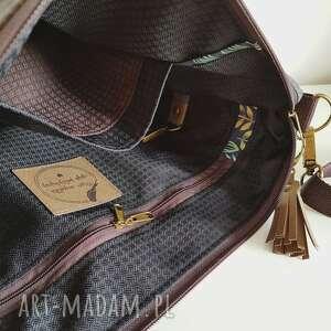 handmade na ramię torebka mini plus pocket zielnik