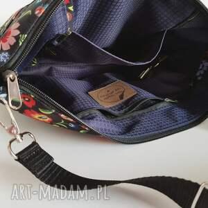 czarne na ramię wodoodporna torebka mini plus pocket łowicki