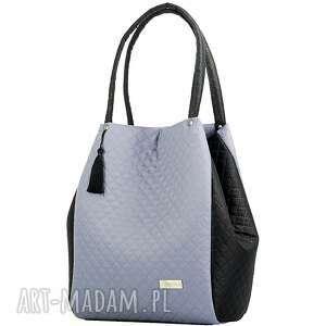 szare na ramię pikowana torebka simple 286