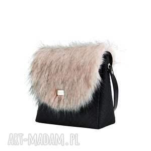 na ramię: Torebka puro classic 1253 fur 5 - Hand Made