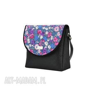 ręczne wykonanie na ramię kwiaty torebka puro 1750 purple flowers