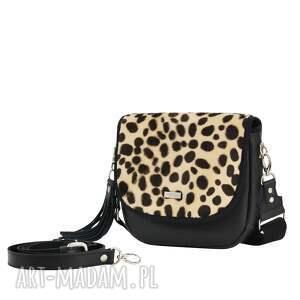 czarne na ramię puro saszka torebka 2196 cheetach