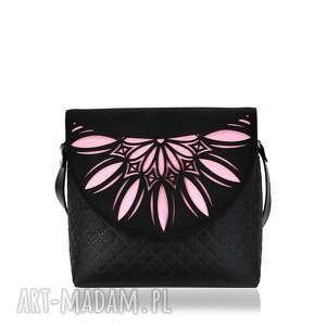 ręcznie wykonane na ramię pikowana torebka puro 794 pink cutout