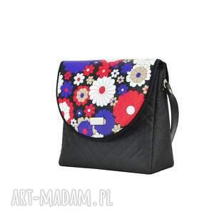 na ramię pojemna torebka puro 2034 flowered meadow