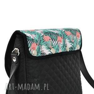 zielone na ramię torebka puro summer 1066 flamingos