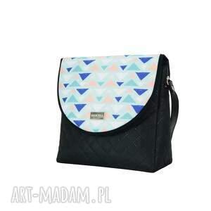 na ramię ręcznie szyte torebka puro 2060 painted triangles