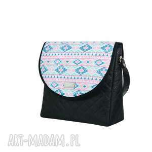 na ramię ręcznie szyte torebka puro 2065 aztec pastel