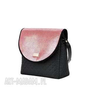 na ramię: torebka puro 736 pink vintage - Hand Made wymienne
