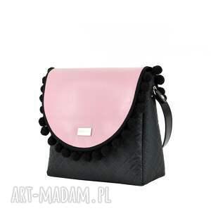 na ramię wymienne torebka puro 838 pink pompons
