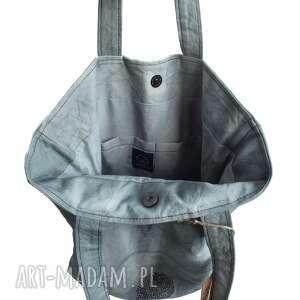 na ramię solidna torebka ręcznie farbowana