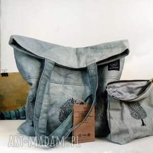 trendy na ramię solidna torebka ręcznie farbowana