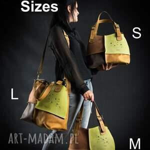 na ramię torebka do ręki skórzana wykonana ręcznie