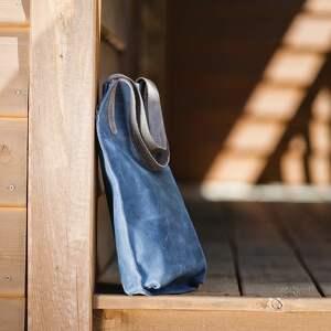 torebka na ramię skórzana ręcznie robiona