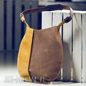 brązowe na ramię torba skórzana mam dla was piękną torebkę, wykonaną ręcznie