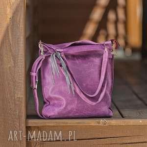 na ramię torebka-na-ramię torebka skórzana ręcznie robiona