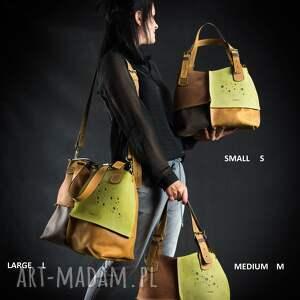 żółte na ramię torebka damska skórzana torba