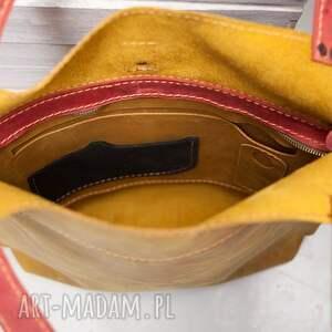 do szkoły na ramię torebka skórzana ręcznie robiona