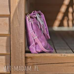 na ramię torebka na skórzana ręcznie robiona