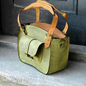 na ramię duża torebka skórzana torba z kopertówką