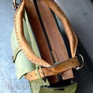 Ladybuq Art Studio torebka skórzana torba z kopertówką miejska duża na codzień art kopertówka