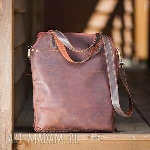 intrygujące na ramię torba skórzana torebka ręcznie robiona