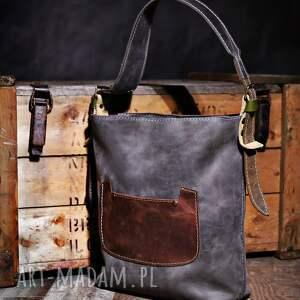 atrakcyjne torba skórzana torebka ręcznie robiona