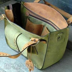 pojemna na ramię torebka skórzana torba z kopertówką