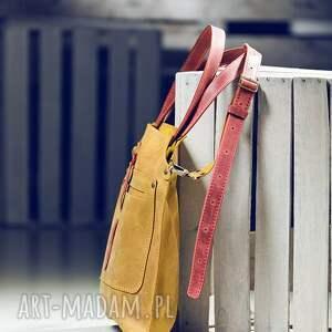 na ramię torba skórzana torebka ręcznie robiona