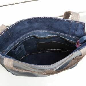 unikatowe na ramię torba skórzana torebka ręcznie robiona