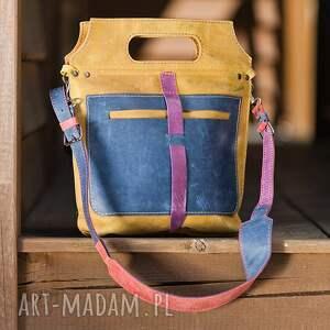 handmade na ramię torba skórzana torebka ręcznie robiona