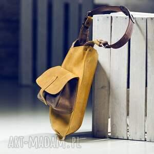 niekonwencjonalne na ramię torba skórzana torebka ręcznie robiona