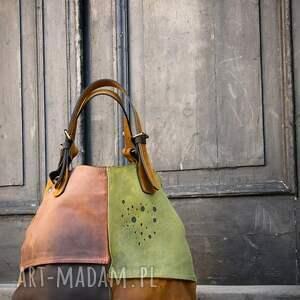 na ramię torba skórzana torebka wykonana ręcznie