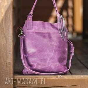 handmade na ramię torba-skórzana torebka skórzana ręcznie robiona