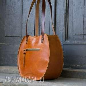 na ramię torba do pracy torebka skórzana wykonana ręcznie