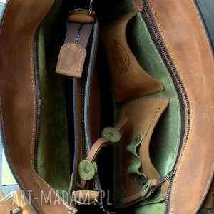 na ramię pojemna torebka skórzana torba z kopertówką